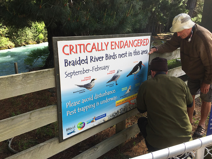 ...then sponsored and installed signs....