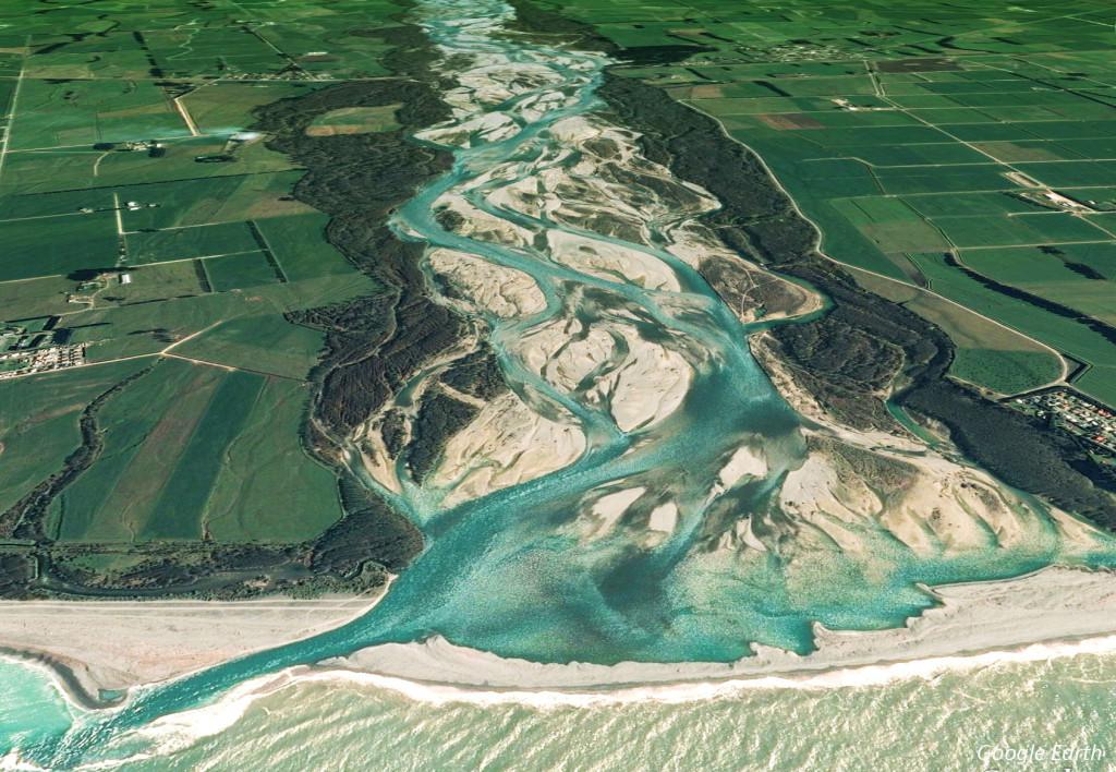 Lower Waitaki river mouth